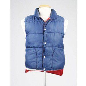Vintage 80s Emo Men's Reversible Puffy Ski Vest S